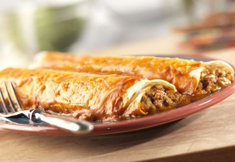 These flavorful enchiladas make a simple, delicious and filling supper!