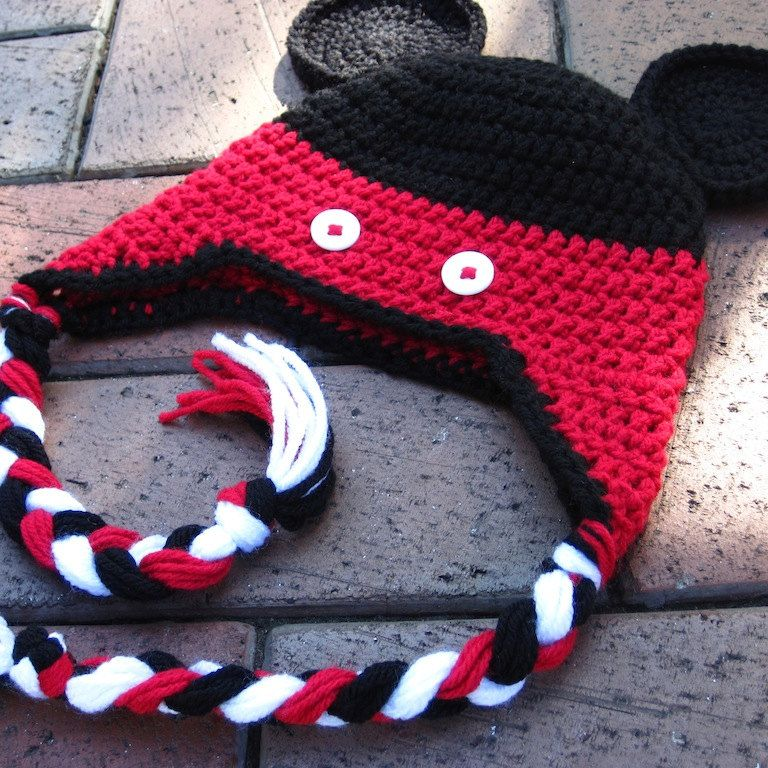 Mickey Mouse Crochet Hat PDF Instructions to make a by lizzziee ...