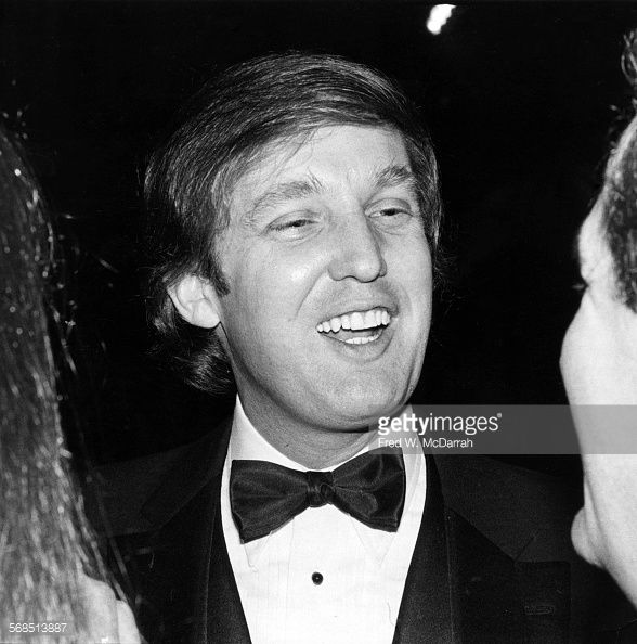 Close-up of American real estate developer Donald Trump attends a party hosted by attorney Roy Cohn, New York, New York, February 22, 1979