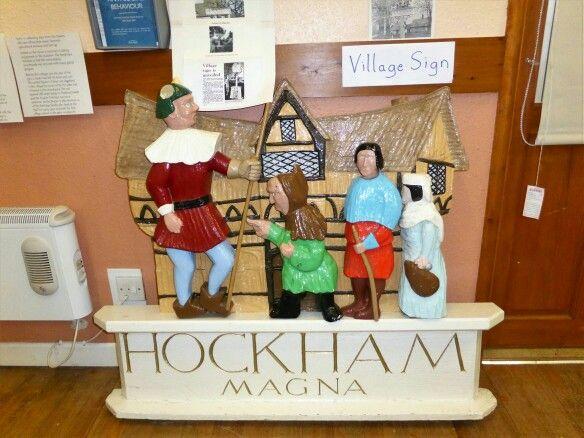 Gt Hockham old village sign