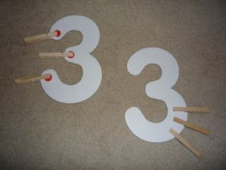 clothespin numbers
