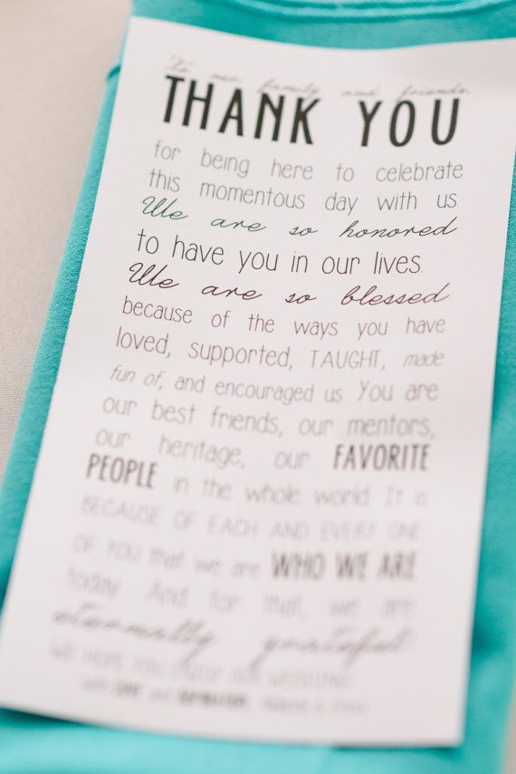 Printable To Our Family And Friends  Thank You Note Template