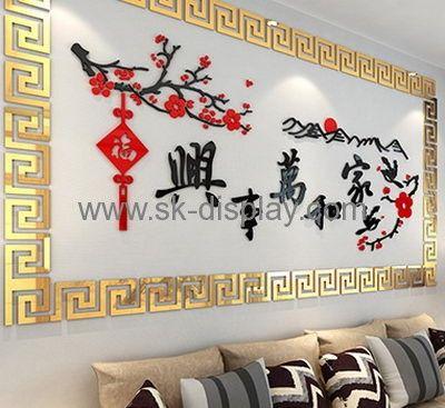 Custom design acrylic transparent sticker smart mirror acrylic mirror decoration sticker ma 025