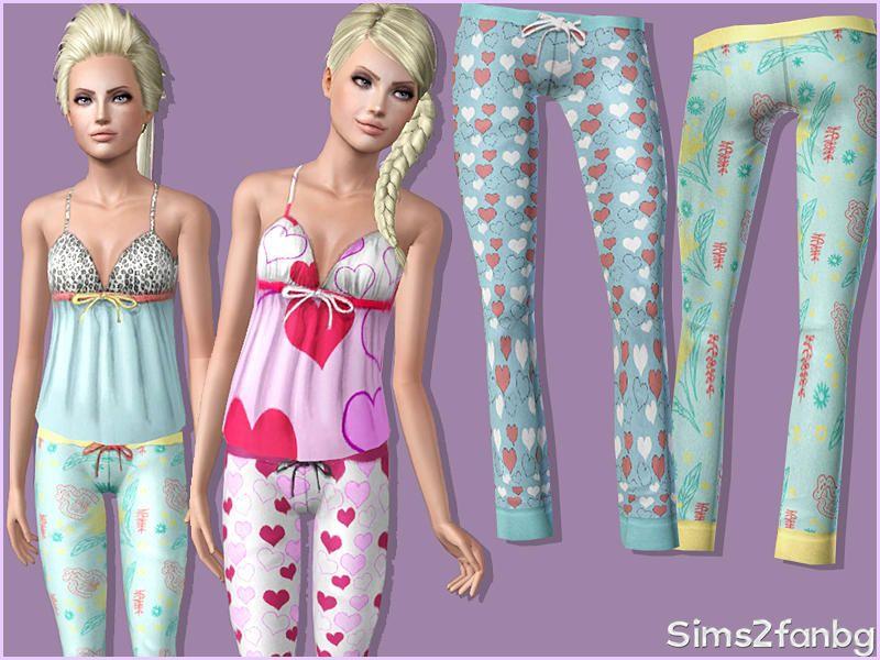sims2fanbg's 316 - Teen Sleepwear Bottom 1