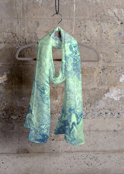 Cashmere Silk Scarf - Waves Cash/Silk by VIDA VIDA Cm02CL