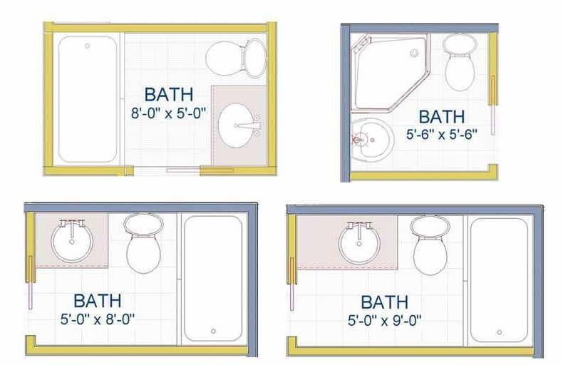 Examples Of Small Bathroom Layout Ideas Bathroom Floor Plans