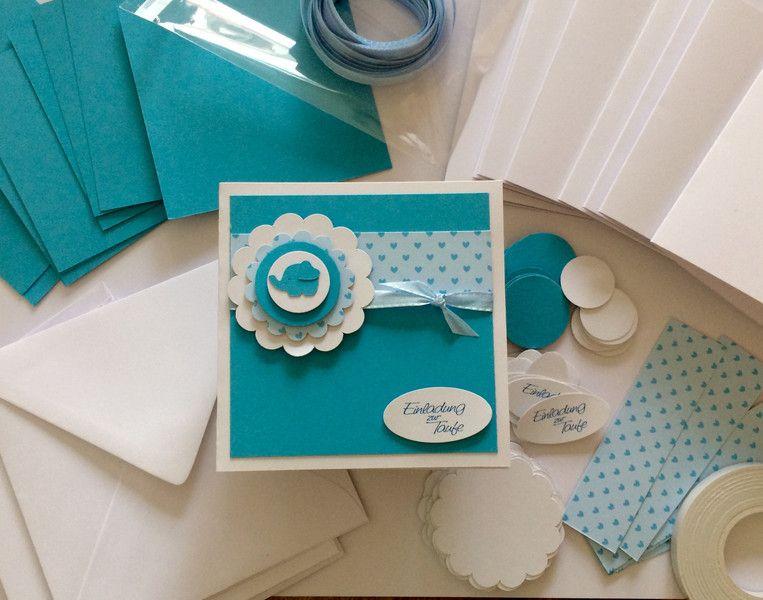 Schön Einladungskarten   Bastelset Einladungen Taufe  DIY    Ein Designerstück  Von Sandelinchen Bei DaWanda