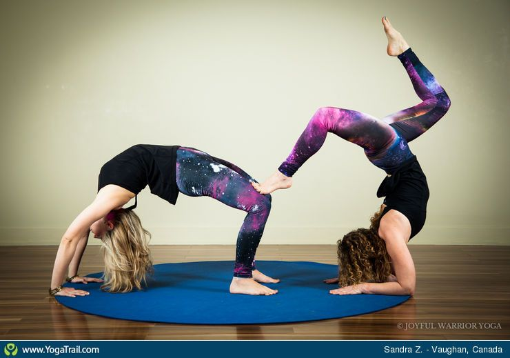 Yoga Pose Partner Acro Poses 2 Person