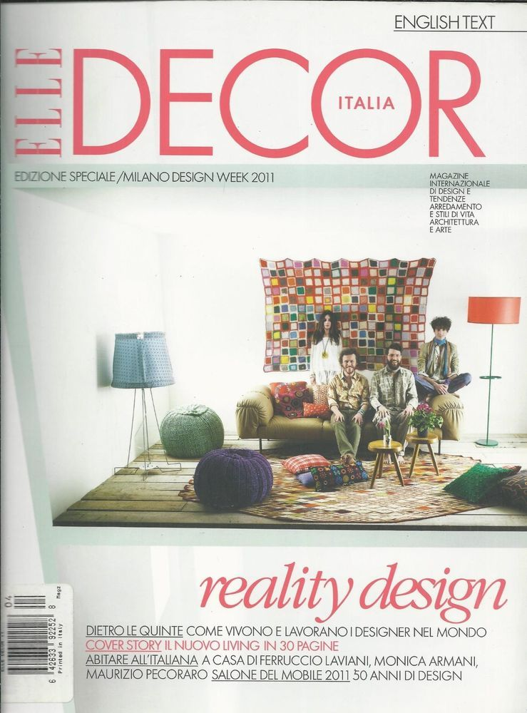 Elle Decor Magazine Reality Design Made In Italy Food And Travel Architecture