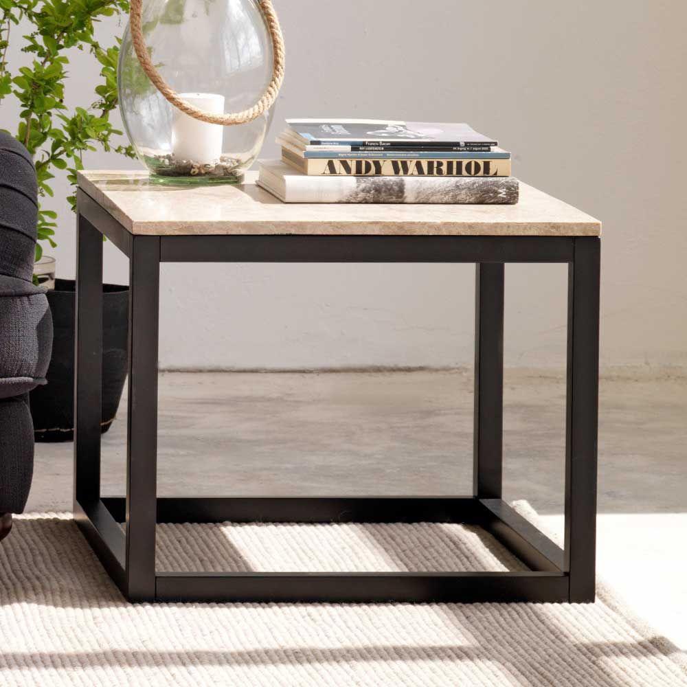 Wohnzimmer Couchtisch In Beige Schwarz Marmor Jetzt Bestellen ... Marmor Wohnzimmer Tische