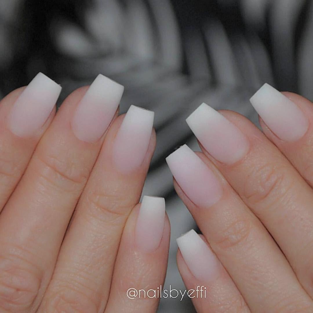 Matte ombré @nailsbyeffi   Nails done   Pinterest   Nail inspo, Prom ...