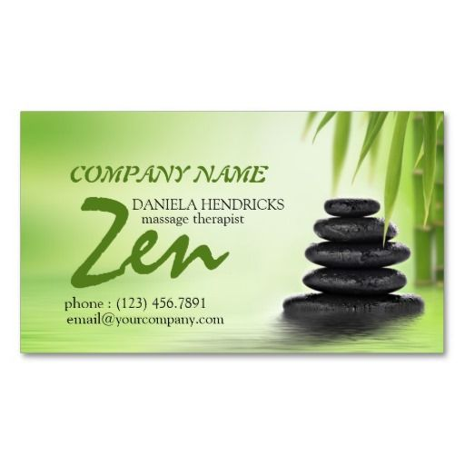 Tranquil Zen Spa Massage Therapist Design Business Card  Business