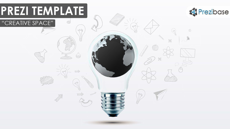 3d world map creative light bulb ideas sketch draft prezi