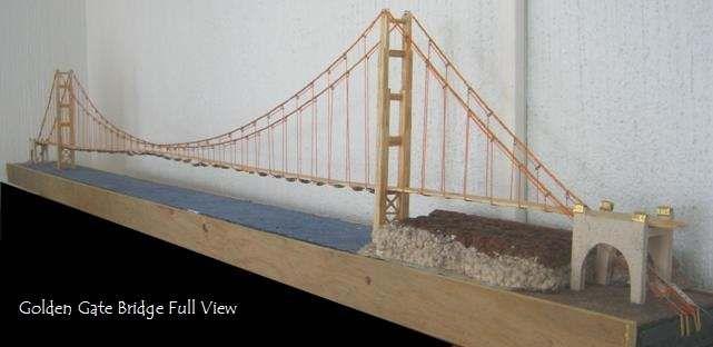 Golden Gate Bridge Miniature Model Jayden S Project