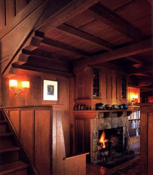 Rustic, cozy Craftsman Interior
