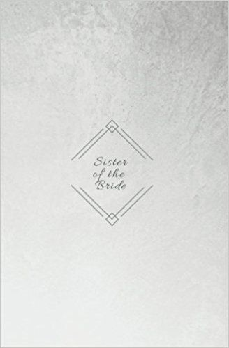 Sister of the Bride Wedding Planner; Bridal Journal; Small Blank - blank line paper