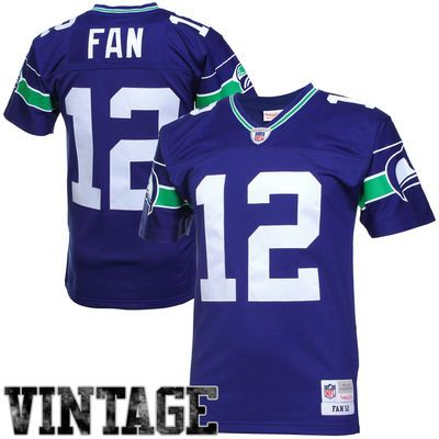 60bca221a 12th Fan Seattle Seahawks Mitchell   Ness Retired Player Vintage Replica  Jersey – Royal Blue