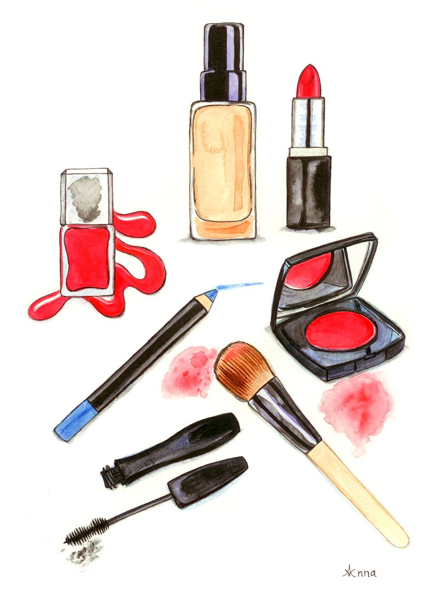 Make up illustration - Anna Lloyd Portfolio - the Loop