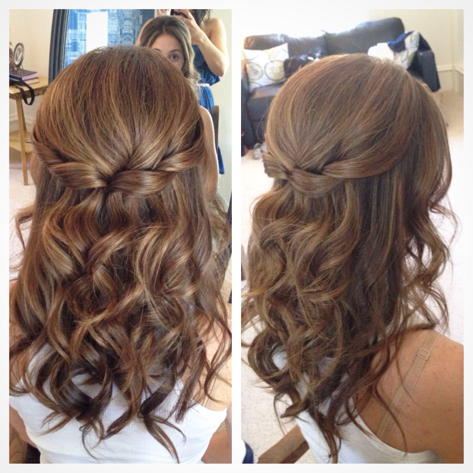 Half up half down hair wedding hair pretty hair hair half up
