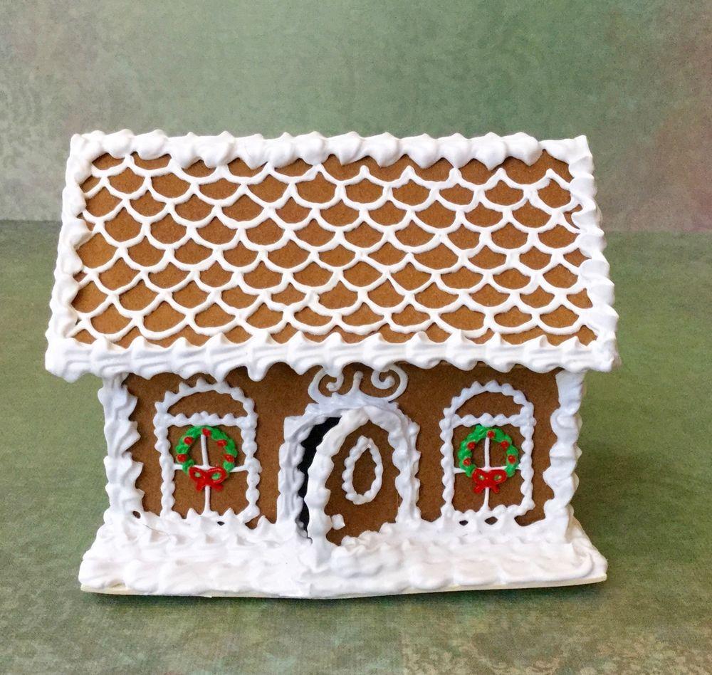 OOAK Dollhouse Artisan Handmade Miniature Christmas Gingerbread House AA1004 #Unbranded
