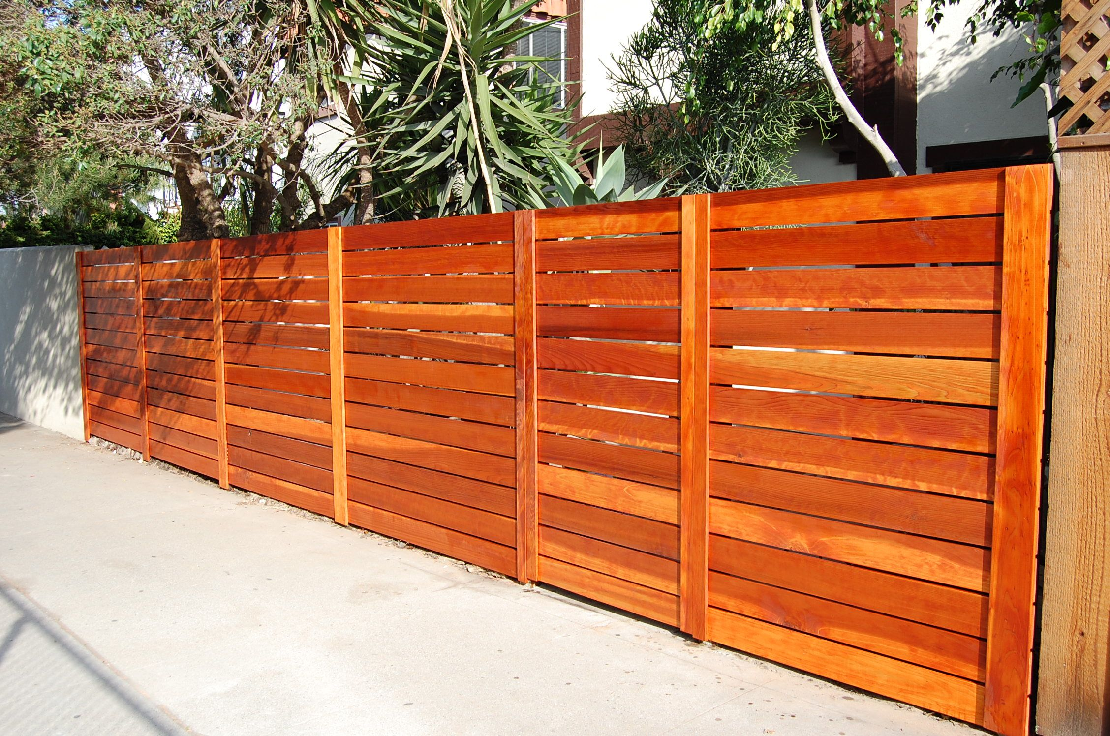 Wood Fencing | Fence design, Modern backyard design