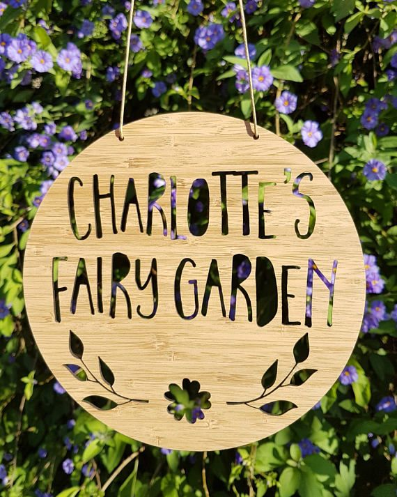 Personalised Wooden Fairy Garden Sign 19.5cm-wall hanging-wall art ...