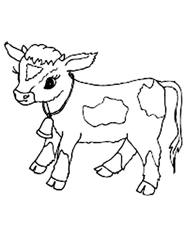 Baby Cow Coloring Page | BABIES | Pinterest | Baby cows, Cow and Babies