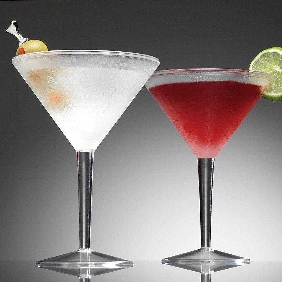 Prodyne Acrylic 10 Ounce Iced Martini Glasses Set Of 2 Bed Bath And Beyond Canada In 2020 Martini Glasses Martini Martini Glass