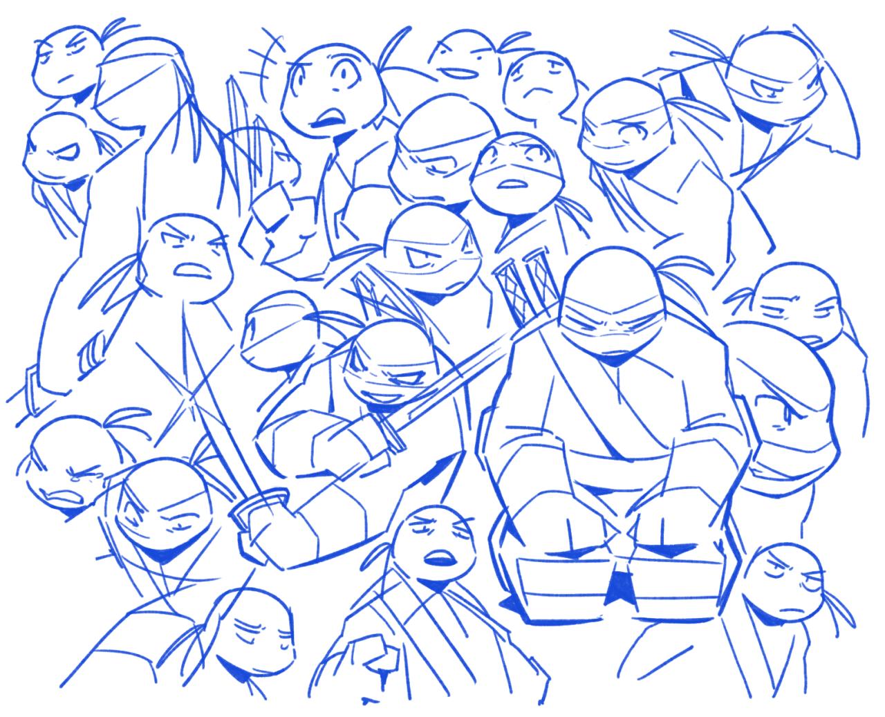 Картинки шинигами из черепашек ниндзя для срисовки