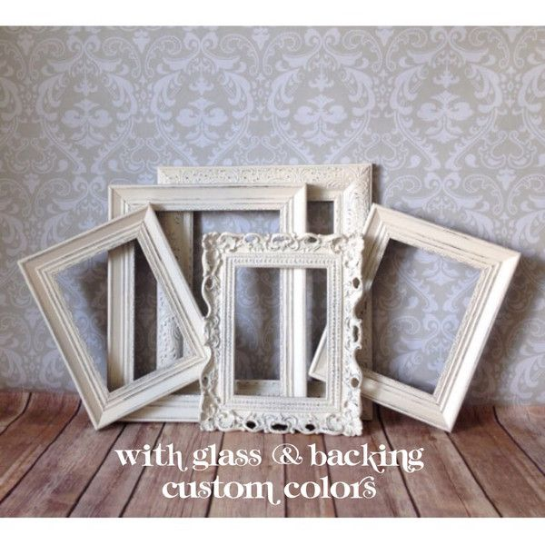 Shabby Chic Picture Frames Wedding Decor Antique White Distressed