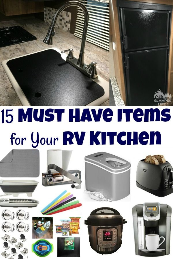 Photo of 15 Must-Have Items for Your RV Kitchen glamperlife.com/… #familytravel #rv #ca…