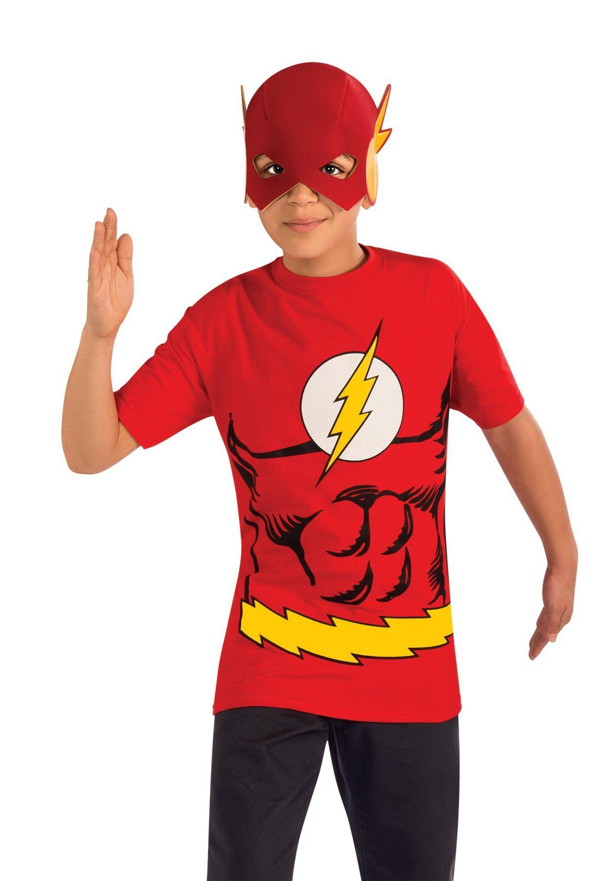 Flash Boys Costume Shirt & Mask Large T shirt costumes