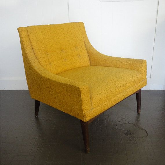 Mustard Selig Style Lounge Chair  we have this available for sale in a  beautiful aqua  Very good condition  Canal St Mid Century Modern Selig style chair from Rewind Interiors and  . Modern Yellow Lounge Chair. Home Design Ideas