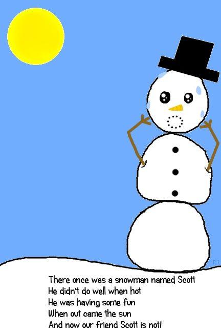 Winter Limericks For Kids - A Snowman Named Scott | Limerick for ...
