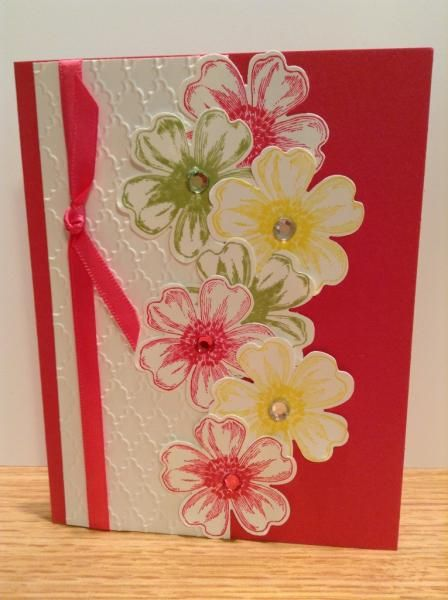 Mambo Flower Shop By Tracy Lee Cards And Paper Crafts At Splitcoaststampers Flower Cards Floral Cards Card Making Birthday
