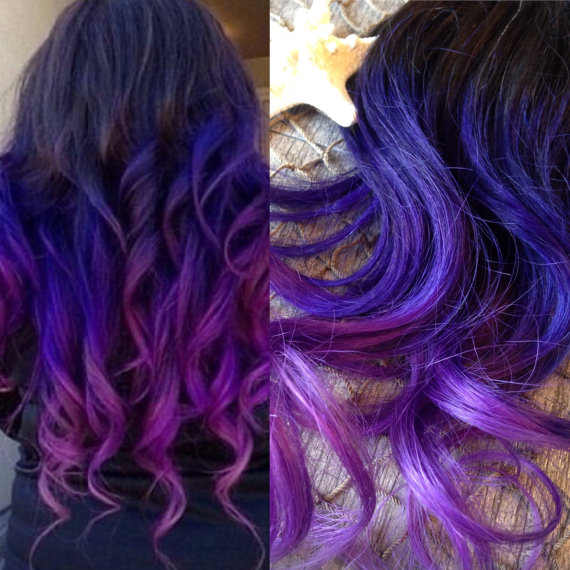 Ombre Hair Extensions Full Set Balayage Hair Extensions Dip Dye