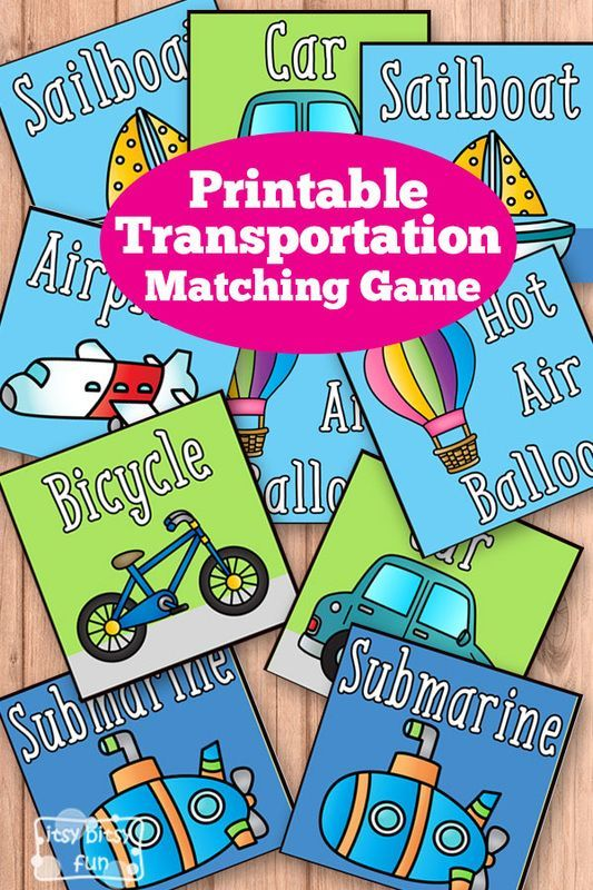 printable transportation memory game feb lesson plan rh pinterest com