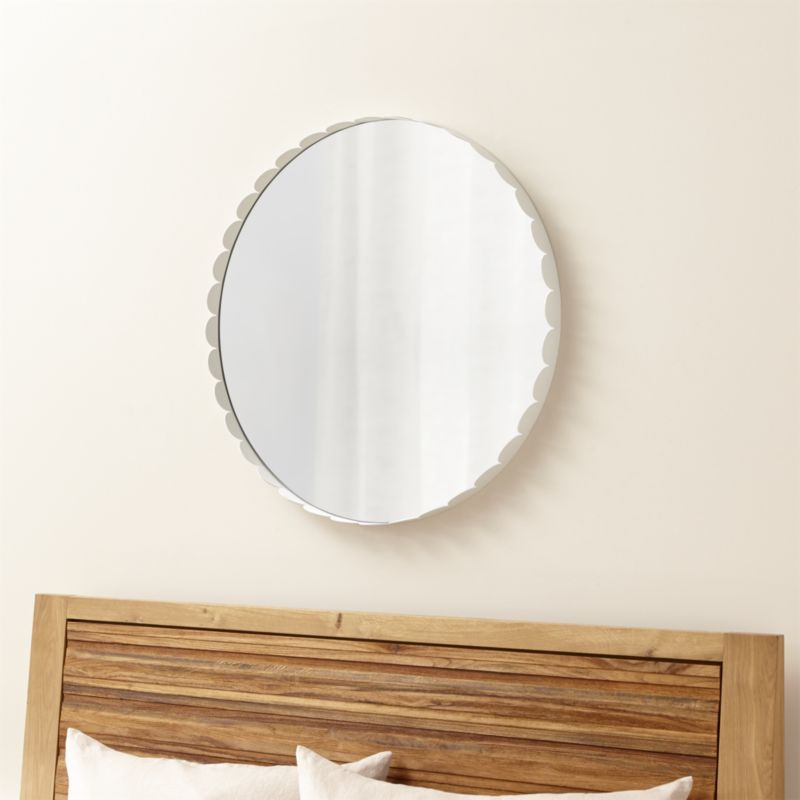 Ninna White Round Wall Mirror - Crate and Barrel | Decorative ...