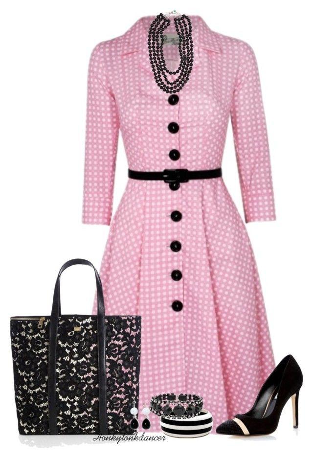 """Pink Dress"" by honkytonkdancer ❤ liked on Polyvore featuring Tara Starlet, Dolce&Gabbana, Dune, MGEMS, Helene Zubeldia, Mixit, PolkaDots and fashionset"