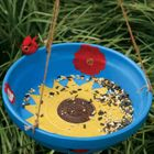 terracotta bird feeder