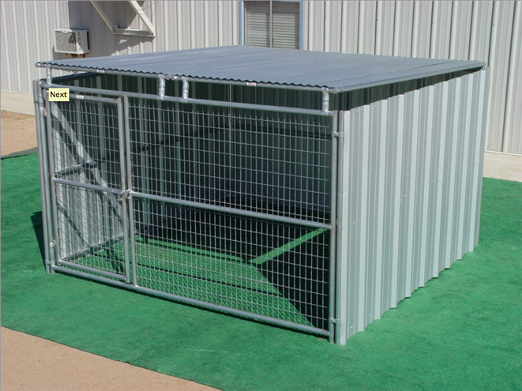 Heavy Duty Outdoor Enclosed Dog Kennel With Roof Shelter Single Run