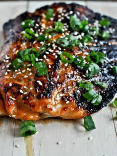Toasted Sesame Ginger Salmon - Josh if I have to eat seafood, ... this is what I want it to be.
