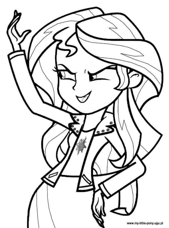 Sunset Shimmer From My Little Pony Equestria Girls Coloring Page ...