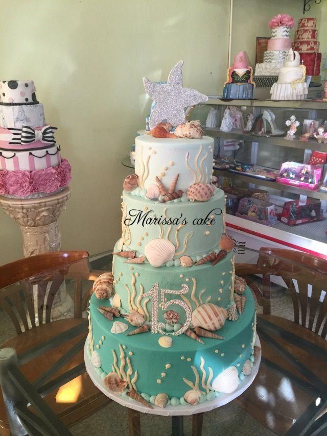 Under The Sea Quinceanera Cake Visit Us Facebook Com Marissascake