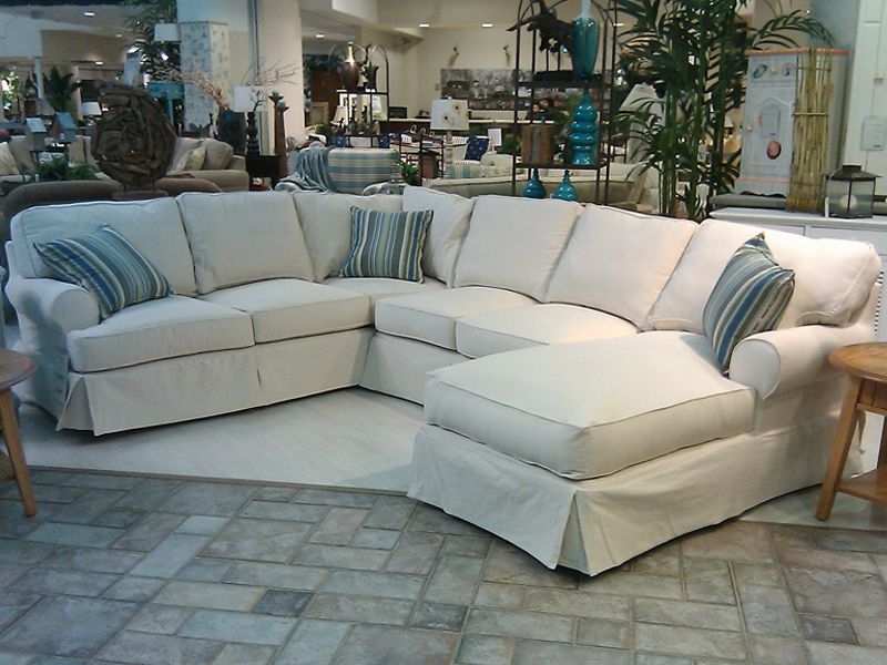 Slipcovers for Sectional Couches : sectional with chaise slipcovers - Sectionals, Sofas & Couches