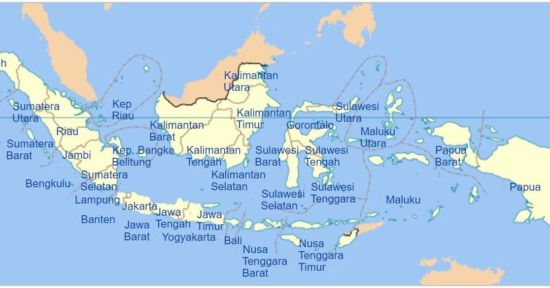 Gambar Peta Indonesia Lengkap 34 Provinsi Http Bit Ly 2qmo8lh