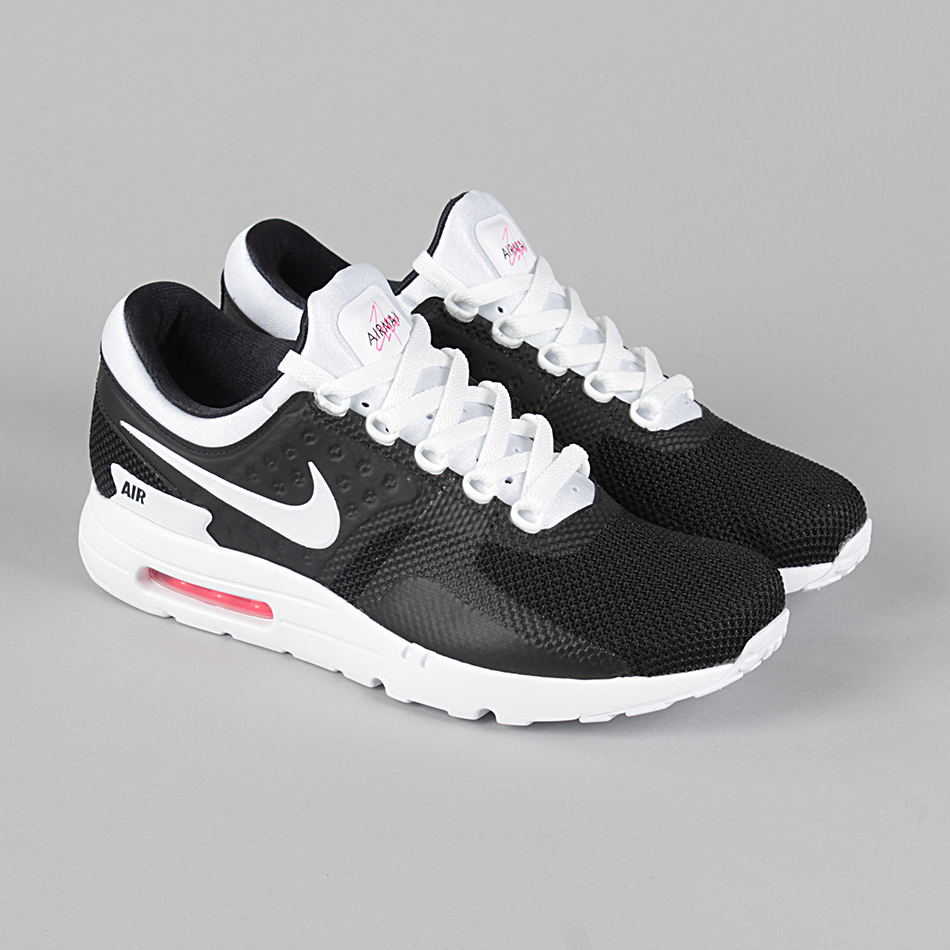 billig Nike Air Max Zero Essential Black White White Solar