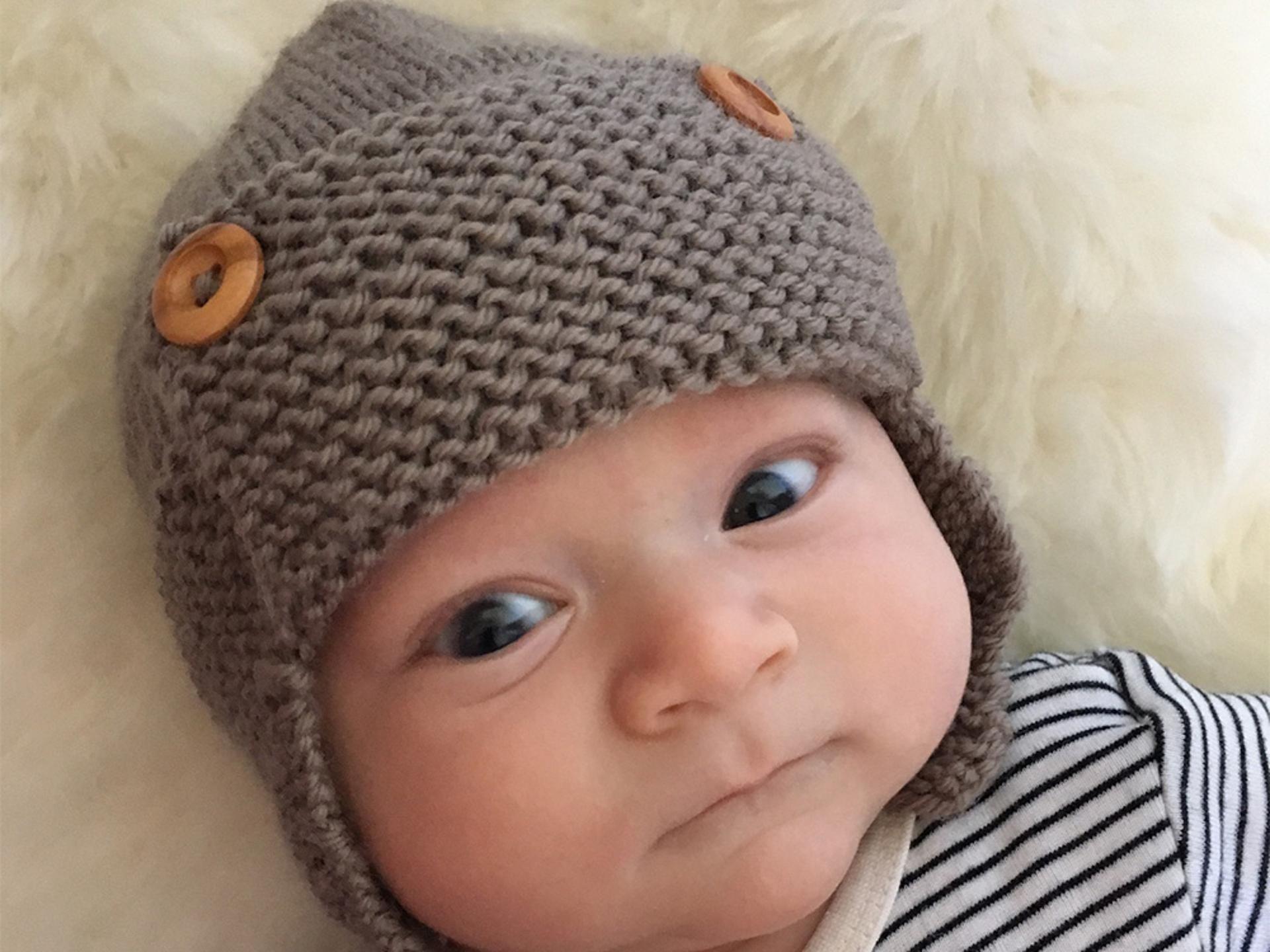 Baby Aviator Hat - Regan   Baby hats knitting, Baby ...