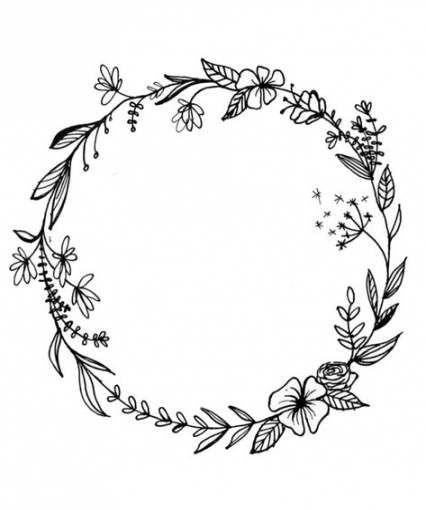 47 trendy flowers wreath drawing tattoo #drawing #tattoo #flowers