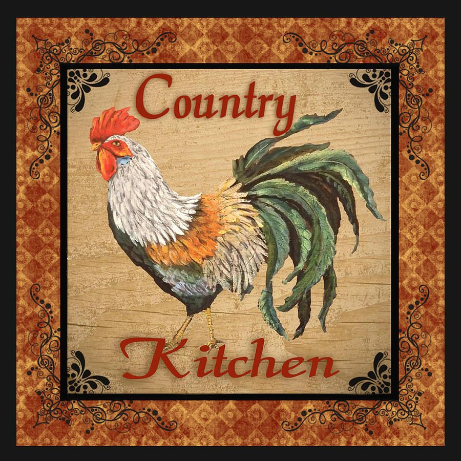 country kitchen rooster by jean plout rooster kitchen rooster country kitchen on kitchen decor paintings prints id=30224